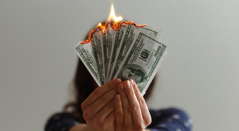money_on_fire